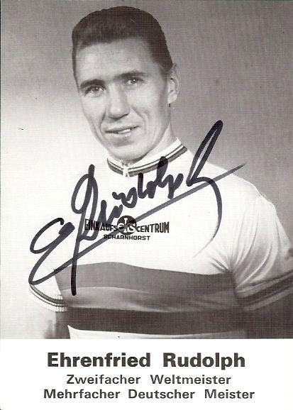 Ehrenfried Rudolph WM 1970 der Steher, WM 1962 Mannschaftsverfolgung