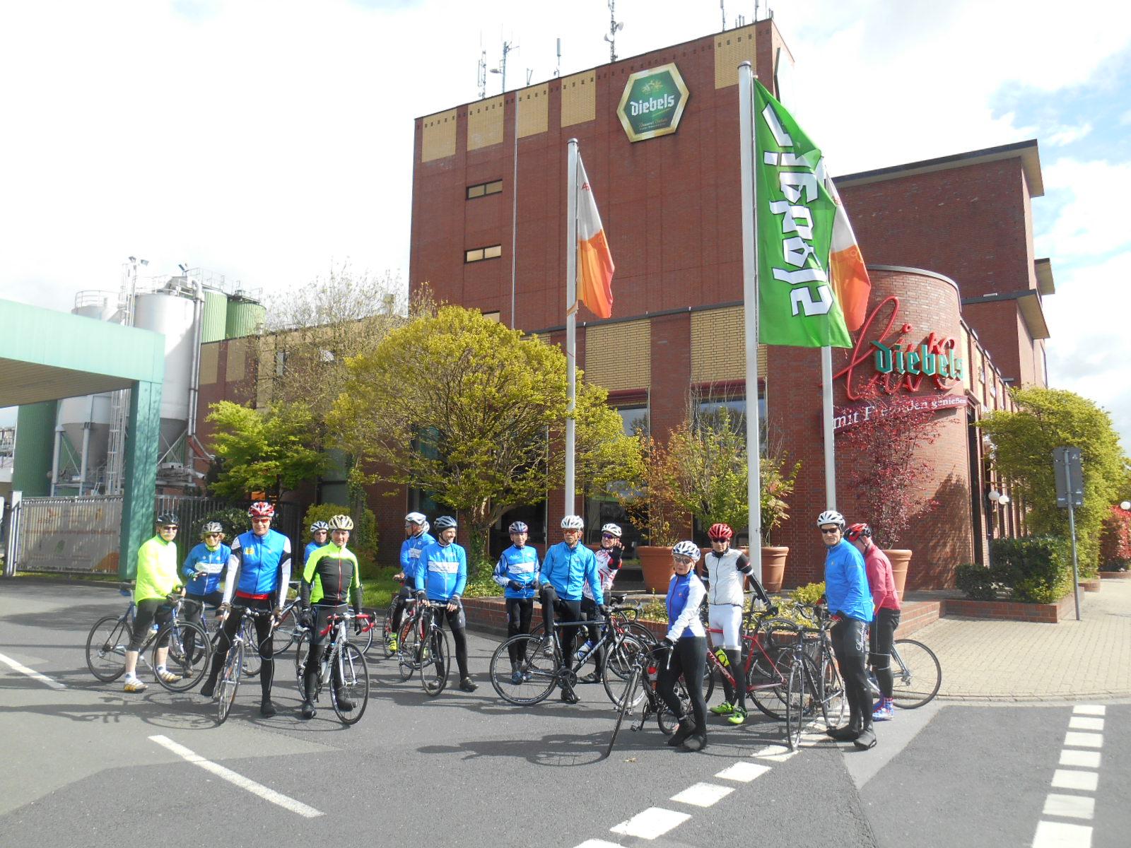 Klubanfahrt am So.,23.4.17, nach Vernum zum Landcafe Steudle